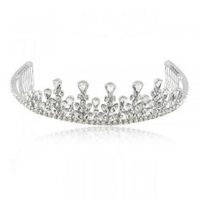 Coroa com banho de ródio e cristais swarovski
