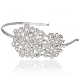 Tiara para noiva detalhada com cristais swarovski e banhada em ródio